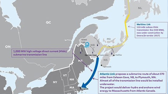 Emera Proposes Construction of Atlantic Link Project