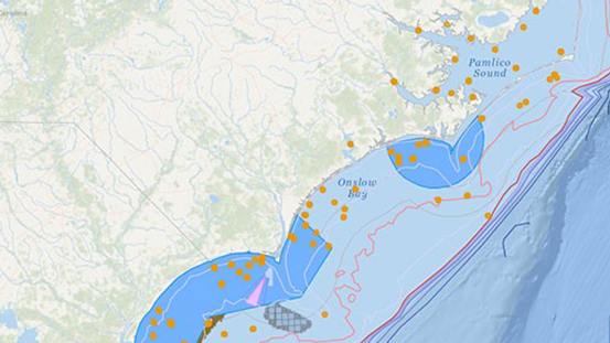 Using Spatial Data and Web Mapping Tools to Support Wind Energy Planning off the North Carolina Coast